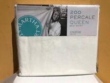 Martha Steward 200 Percale Queen Bed Skirt White
