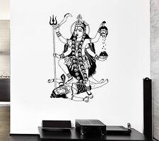 Wall Decal Shiva India God Krishna Brahma Murder Mural Vinyl Stickers (ed024)