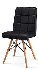 Stuhl Esszimmer PU Leder schwarz Designerstuhl Gastronomie Stühle für Esstisch