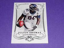 2014 National Treasures JULIUS THOMAS #1 Century Numbers SP/80 Broncos-Jaguars