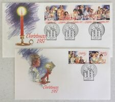 1987 Christmas (2 covers) Fdc