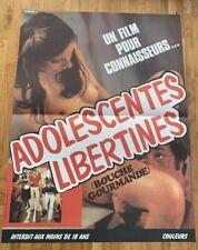 affiche poster de cinéma érotique «Adolescentes Libertines» 40x60cm -Neuve