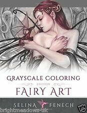 Fairy Art Greyscale Adult Colouring Book Creative Therapy Fantasy Mystical Magic