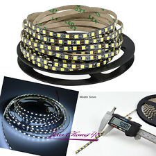 5mm Width 5M 2835 120led/M 600Leds cool white Flexible LED Strip 12V Black PCB