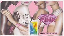 JVC CACHETS - 2014 BREAST CANCER AWARENESS FIRST DAY COVERS FDC MEDICAL TOPIC #1