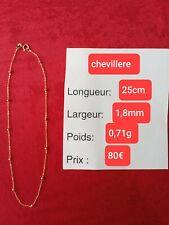 Chevillere or 18 carats 750, chaine de cheville