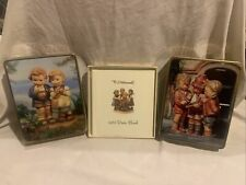Set Of 2 Mj Hummel Stationary Tins And 1982 Date Book (Used)