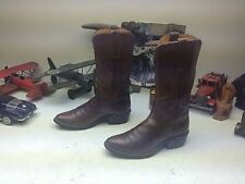 VINTAGE JUSTIN MADE IN USA WESTERN COWBOY BROWN LEATHER ENGINEER BOSS BOOTS 5C