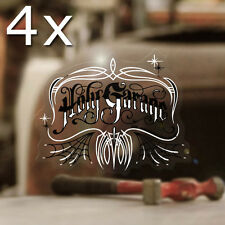 4x Stück Holy Garage Pinstriping Sticker Aufkleber Autocollante Hot Rod 50mm