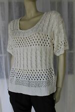 KATIES CREAM CROCHET KNIT TOP SIZE L 💕 FREE POST ON ANY 5 ITEMS