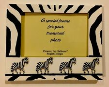 ZEBRA FAMILY 3-D PHOTO FRAME Zebras Great Details!