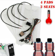 2Seats 4 Pad Carbon Fiber Car Seat Heater Heated Cushion Pad 5 Gear Switch Kit