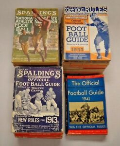 Rare Run of Spalding College Football Guides From 1907-1943 Total of 27 Guides