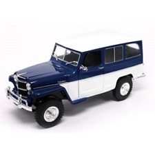 WILLYS JEEP BLUE/WHITE 1:18