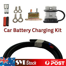 H/Duty Car Trailer Charging Kit - 6M 6mm Cable 50A Anderson Plug Circuit Breaker