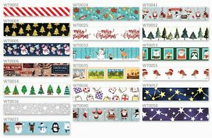 Christmas Washi Tapes - UK Stock - High Quality - 10m Rolls - RM48 Delivery