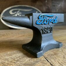 Ford Automobile 1920 Anvil, With Antique Finish and Raised Painted Letters