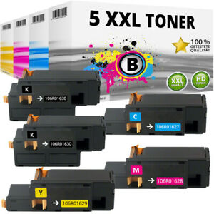 5x XL TONER für Xerox Phaser 6000 6010 WC6015 WC6015VB WC6015VN WC6015VNI Set