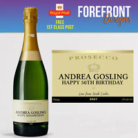 Personalised Prosecco bottle label -  PERFECT VALENTINES GIFT/PRESENT