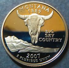 "> 2007-S  STATE QUARTER DOLLAR ""PROOF"", MONTANA, Unc.San Francisco Mint Coin, #3"