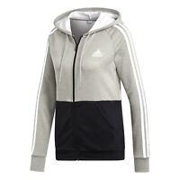New Adidas Womens Game Time Athletic Must Haves Bold Block Hoodie Jacket M