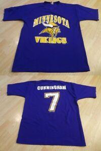 Men's Minnesota Vikings Randall Cunningham L Jersey Vintage (Purple) Sport Attac
