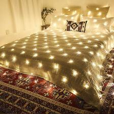 LED String Net Mesh Lights Curtain House Window Wall Xmas Garden Christmas Lamp