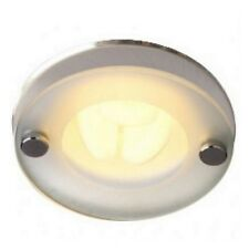 6x Robus Fire Rated Drop Glass Low Energy Downlight Ceiling With Free Lamp