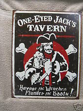 PIRATES Tin Metal Sign FUNNY Bar Decor BEER Jack NEW