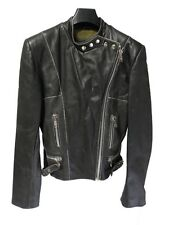 Veste en cuir LEECO taille M femme fille manteau vintage leather jacket NEUF