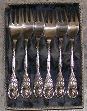 Hildesheimer Rose 6 Kuchengabeln  100 Silber