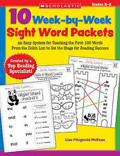 10 Week-by-Week Sight Word Packets: An Easy System for Teaching 100 Important Si
