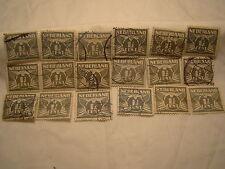 Netherlands Stamp 1926 39 Scott 167 A24  Black 1 1/2 Cent Set of 18