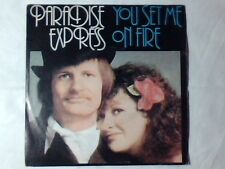 """PARADISE EXPRESS You set me on fire 7"""" ITALY UNIQUE PICTURE SLEEVE"""