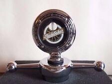 "Studebaker Boyce Senior Motometer 3-3/8"" & Dogbone Radiator Cap Chrome / Wreath"