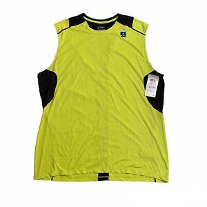 Asics Favorite SL Running Gym Shirt Tank Top Green/UV Protection Men's Sz 2XL