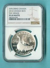 CANADA $15 2014 THE VIKINGS NGC PF-69 MATTE/PROOF ALL PCKG INC