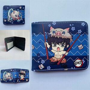 Anime Wallet Demon Slayer Kimetsu no Yaiba Men Card Holder Coin Purse Money Clip