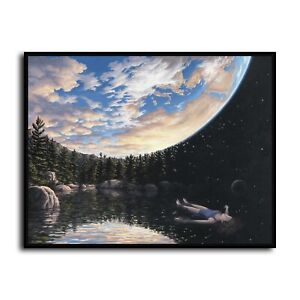 "The Phenomenon of Floating Rob Gonsalves Canvas Print Wall Art Home Decor 12x16"""