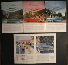 1960 CADILLAC SET OF 4 ADS INCLUDING 1 DOUBLE PAGE AD AUTHENTIC NO REPRODUCTIONS