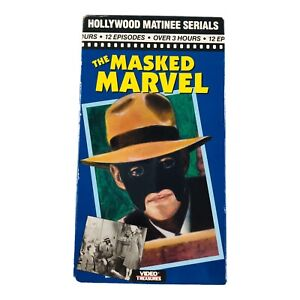 The Masked Marvel Hollywood Matinee Serials (VHS, 1992) 1943 B&W 12 Episodes