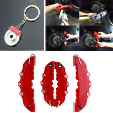 4X 3D Red Style Auto Car Universal Brake Disc Caliper Covers Front & Rear Gift