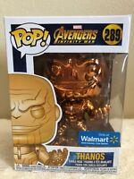 Funko Pop! Marvel Avengers Infinity War THANOS Orange Chrome Walmart Exclusive