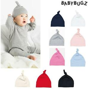 BabyBugz Baby Hat BZ15 Plain One Knot Warm Cotton Beanie Boys Girls Toddler Cap