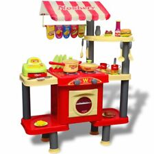 vidaXL Kids Playroom Toy Kitchen Cooking Cooker Pretend Play Role Food Set