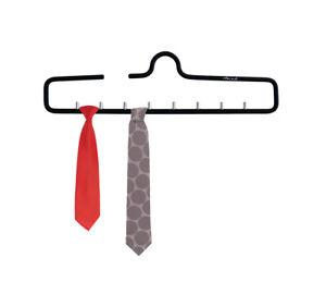 Krawattenhalter Krawattenbügel Aluminium f. 9 Krawatten Schlipshalter Schwarz