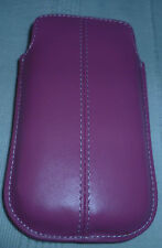 APPLE IPHONE 3g/s/4 POUCH CASE PU LEATHER in PINK(1st class p+p)