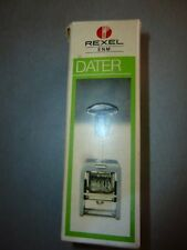 English dater Grey ink pad Rexel working used condition + paper original box