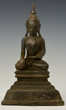16th Century, Shan, Antique Burmese Bronze Seated Buddha
