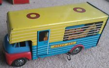 Brimtoy Tin Truck Horse Box Lorry Friction  fair- good lacks rear door